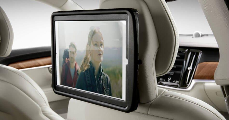 ipad holder your rear seat entertainment hub volvo cars australia. Black Bedroom Furniture Sets. Home Design Ideas
