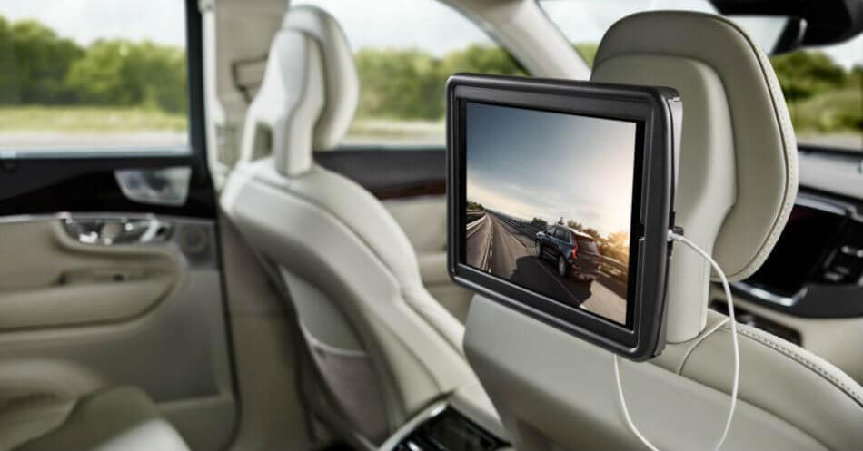 ipad holder your rear seat entertainment hub volvo cars. Black Bedroom Furniture Sets. Home Design Ideas