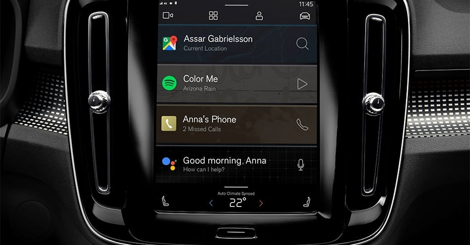 Volvo Android infotainment