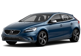 V40 R-Design, o hatchback da Volvo Cars. Design esportivo na cor Bursting Blue.