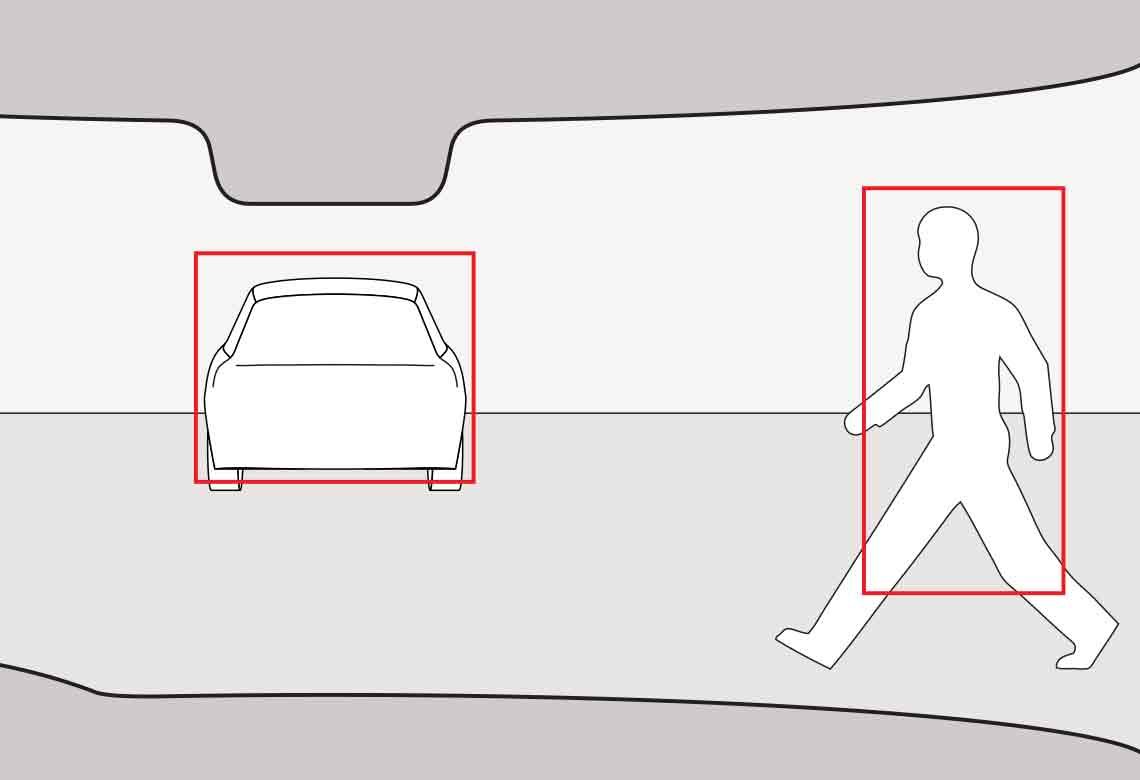 Volvo pedestrian detection with full auto brake