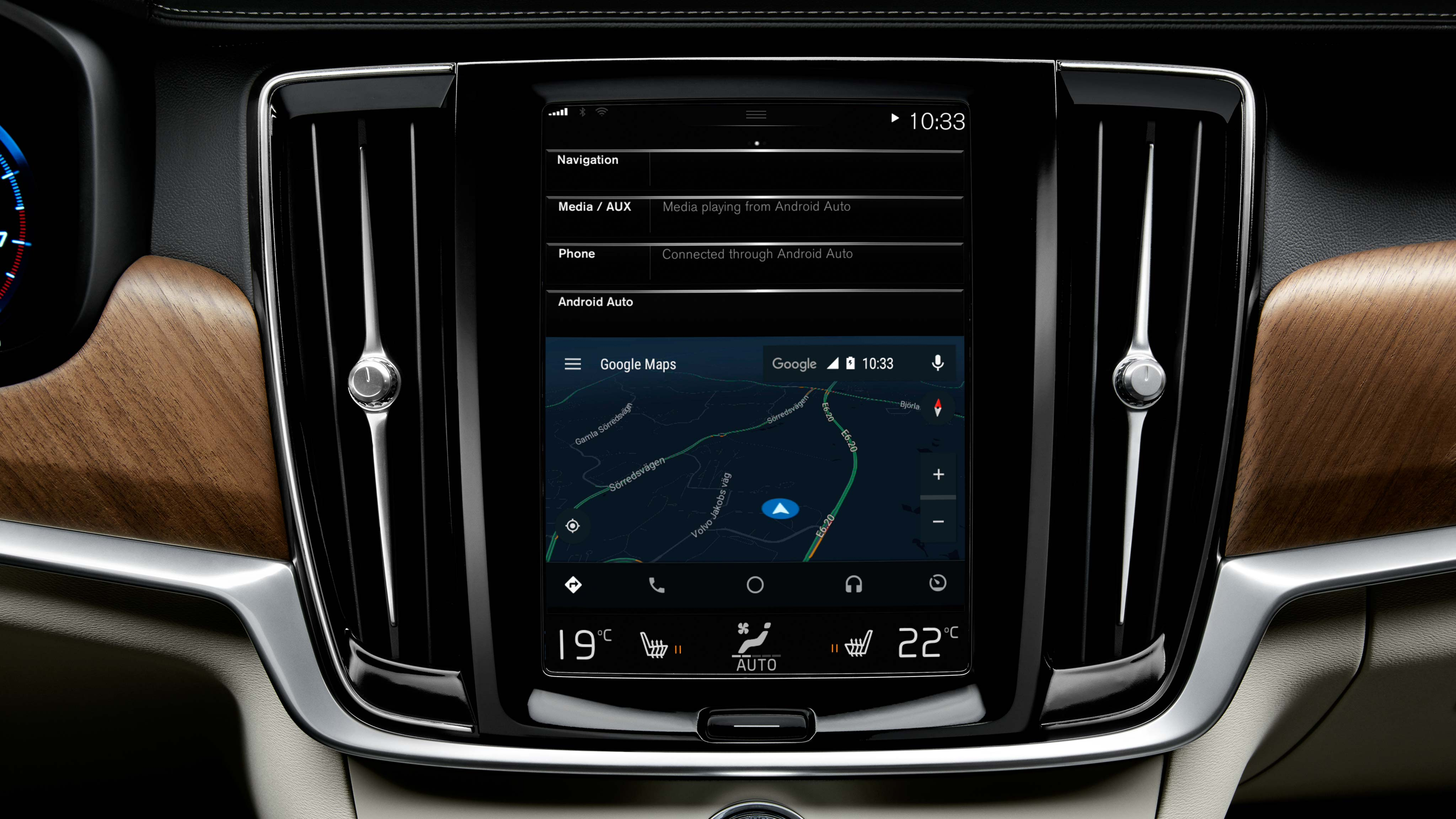 android auto volvo cars. Black Bedroom Furniture Sets. Home Design Ideas