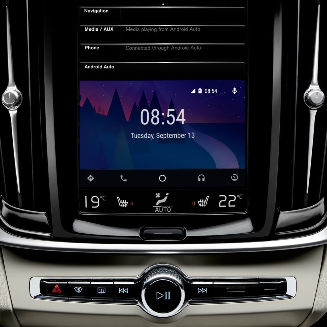 Volvo S90 - Android Auto im Touchdisplay
