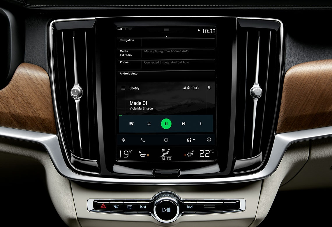 Volvo Soundsysteme - Nahaufname Display