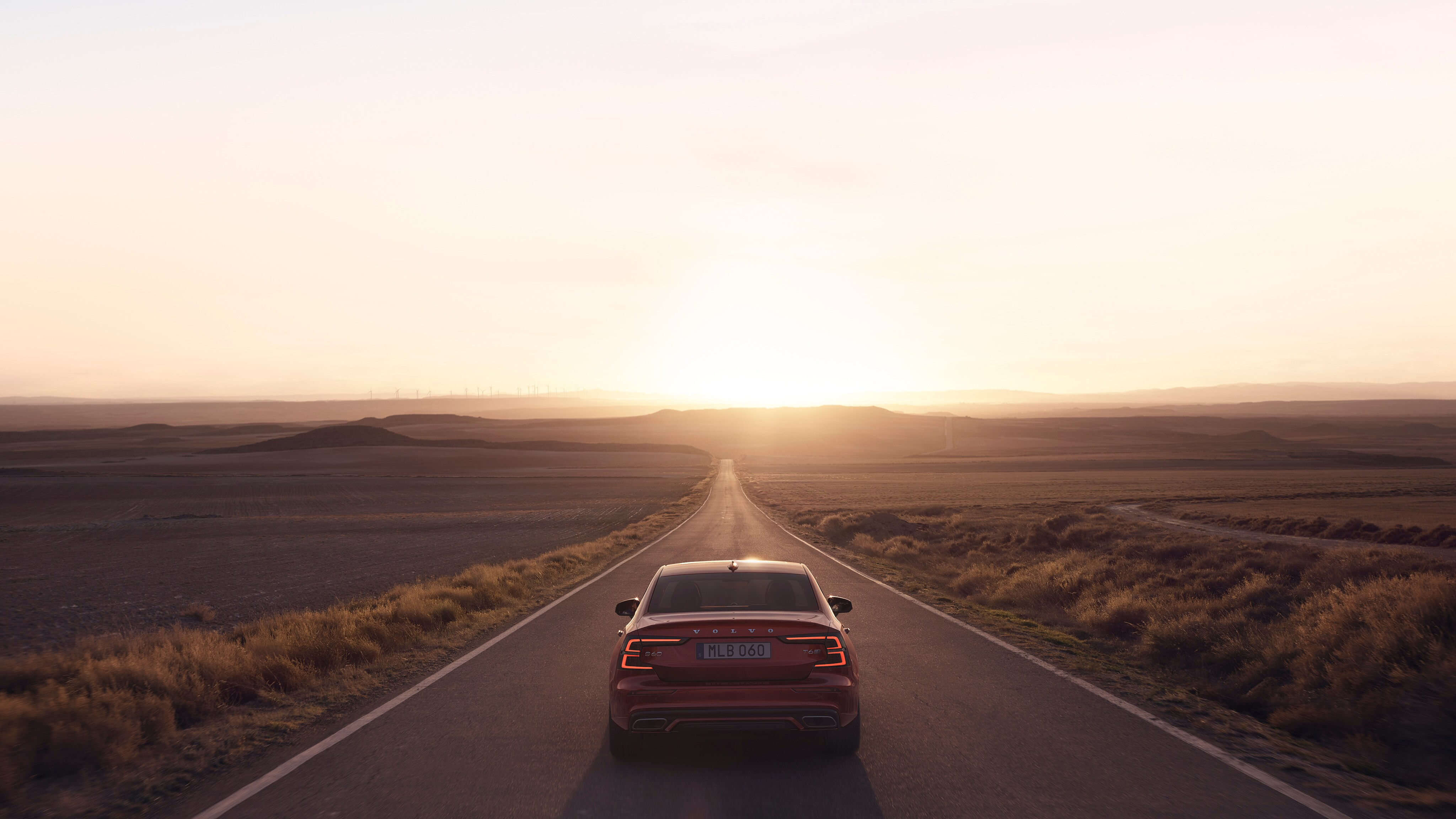 A stretch of deserted country road opens up before the new Volvo S60 R-Design