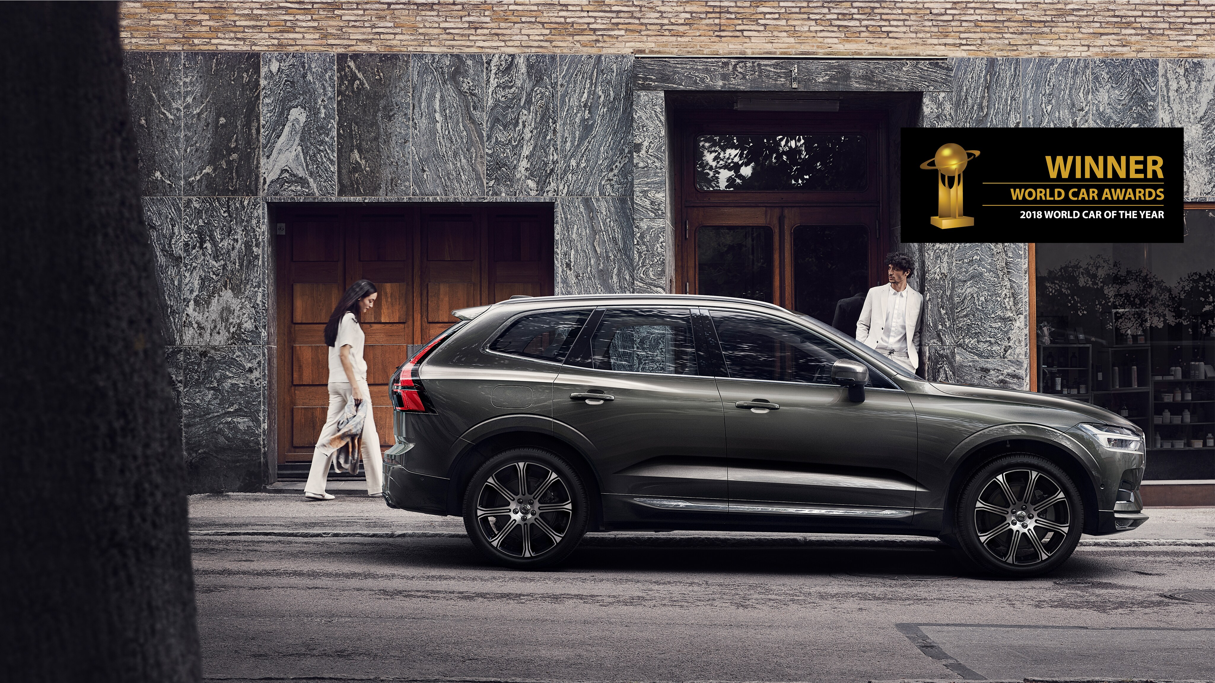 The New Volvo XC60 parked on the street