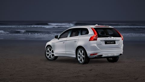 Volvo XC60 blanco playa