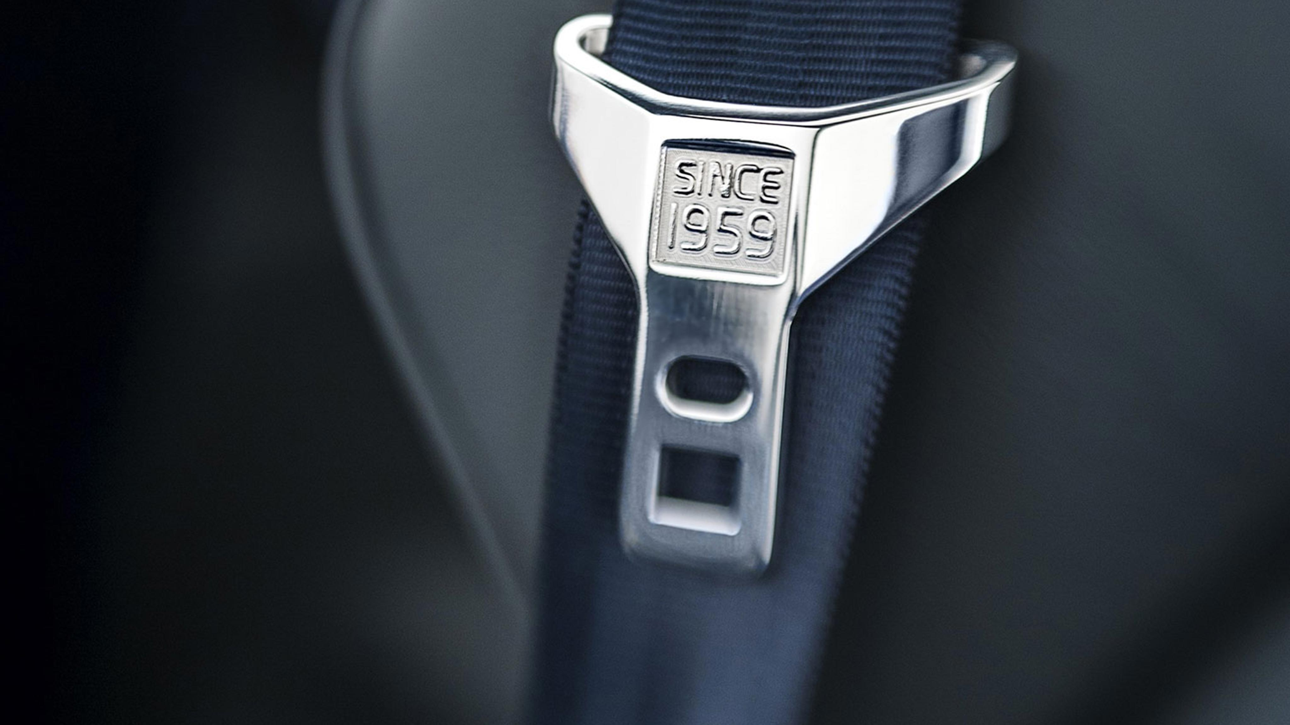 Volvo's first seatbelt