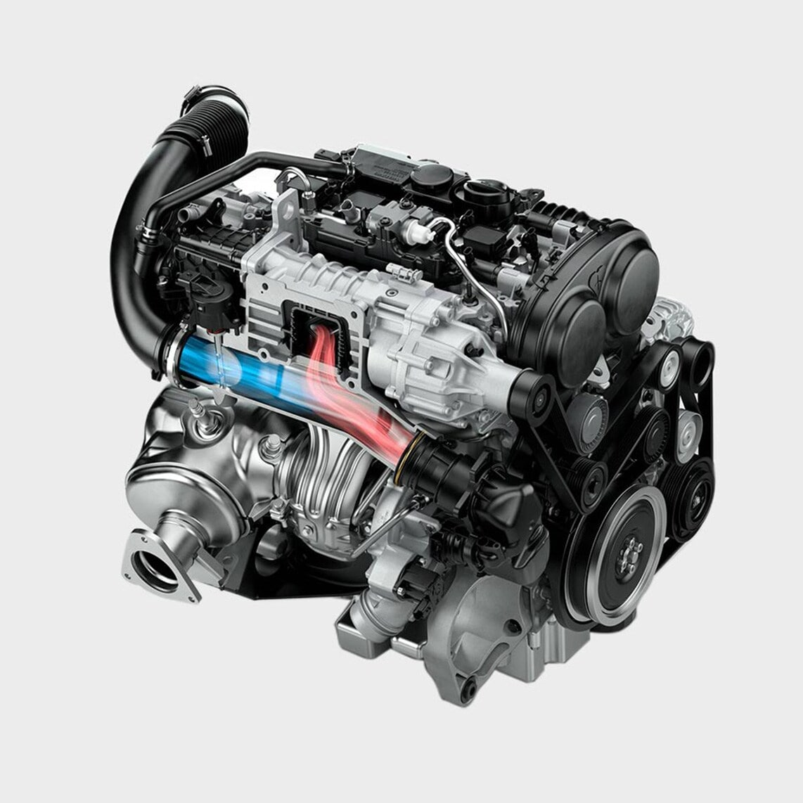 Réduction émission CO2 moteur hybride Break Volvo V90 T8 Twin Engine