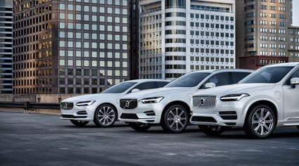 Volvo electrification range