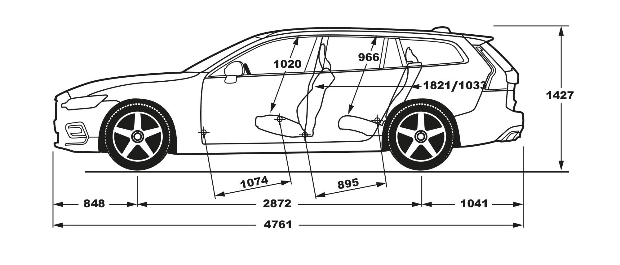Volvo v60 interior dimensions