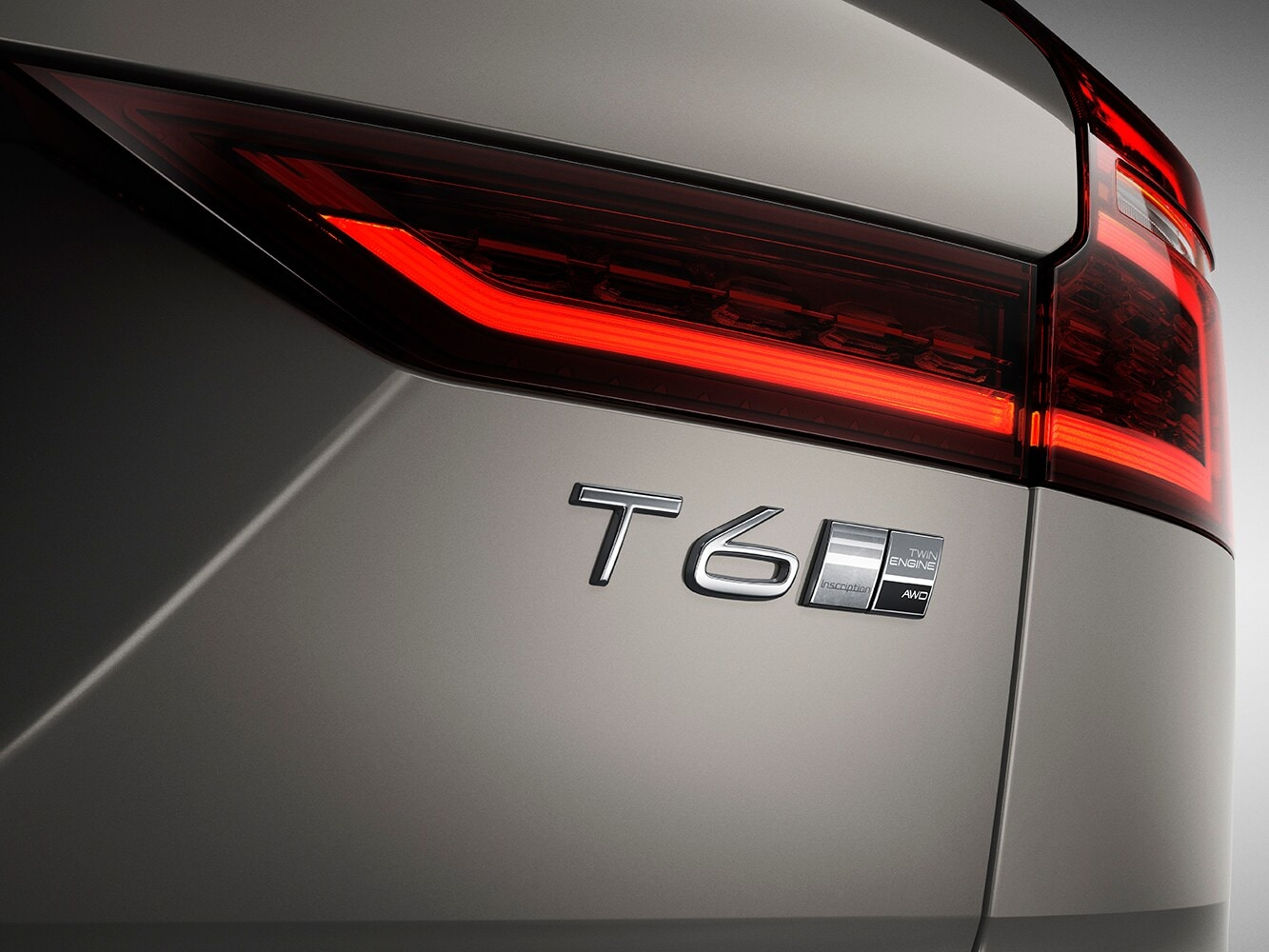A close up of the T6 badge on a Volvo V60