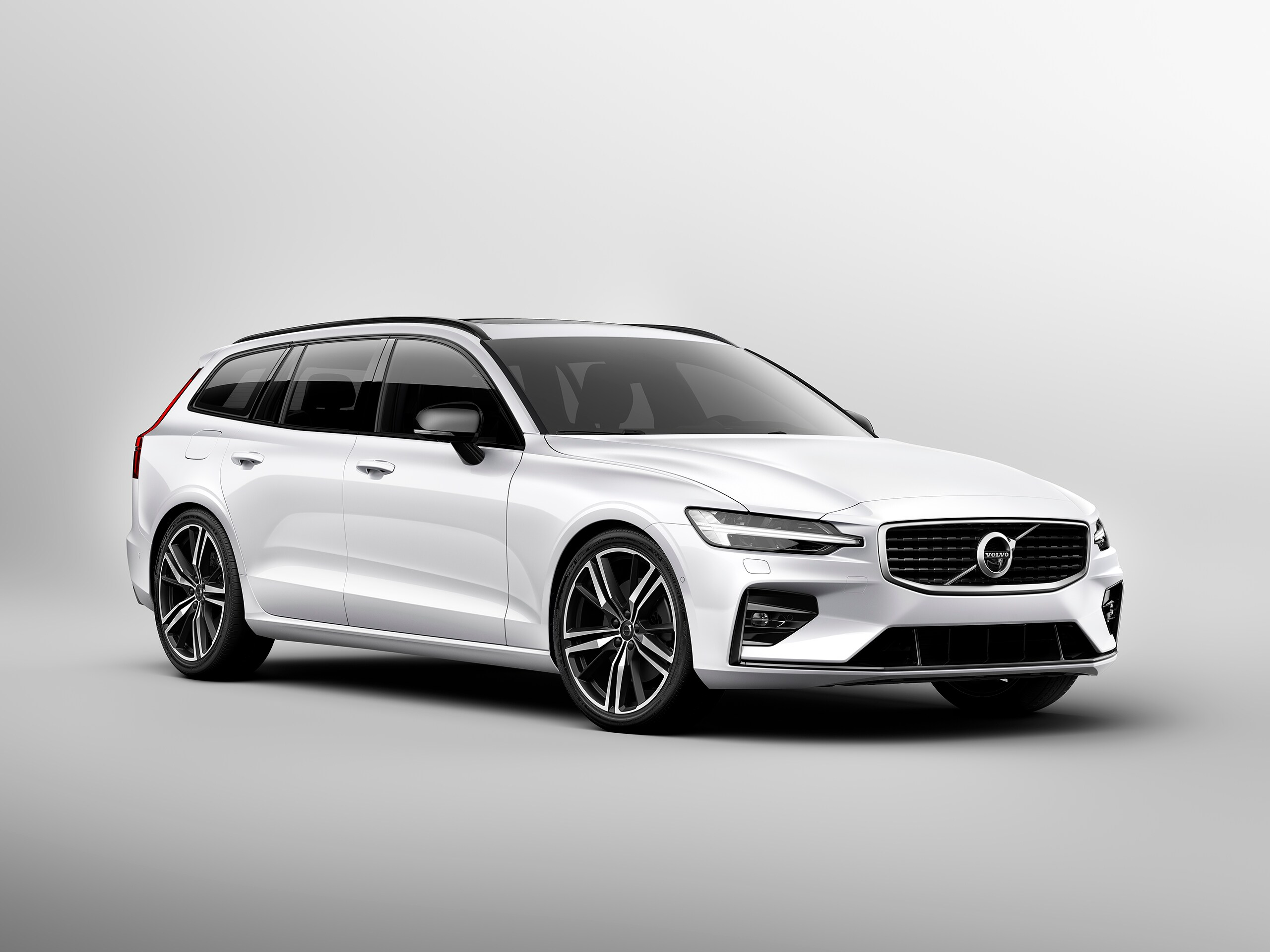 Studio image of the Volvo V60 R-Design