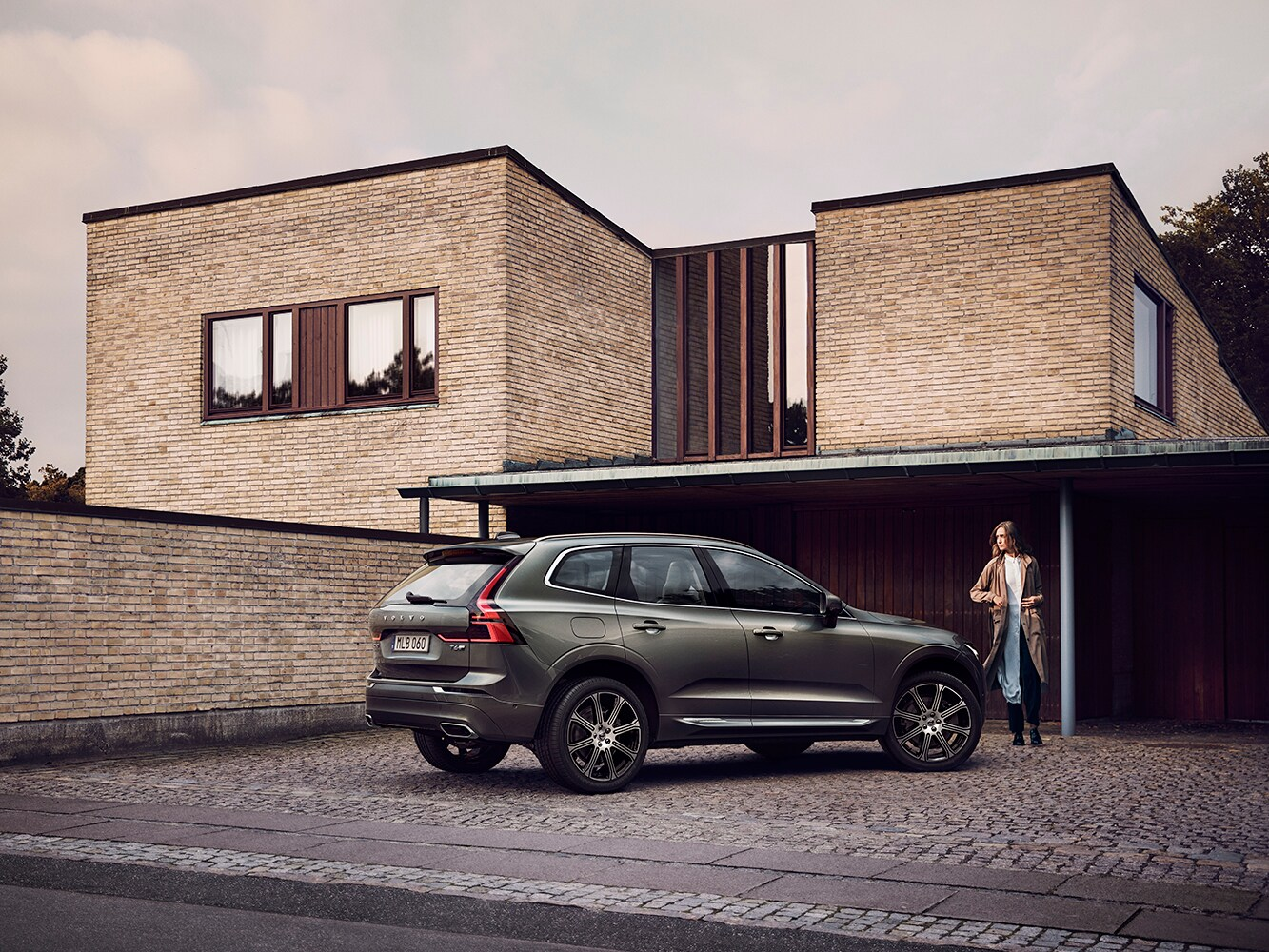The New Volvo XC60 mid-sized SUV Crossover parked on a driveway