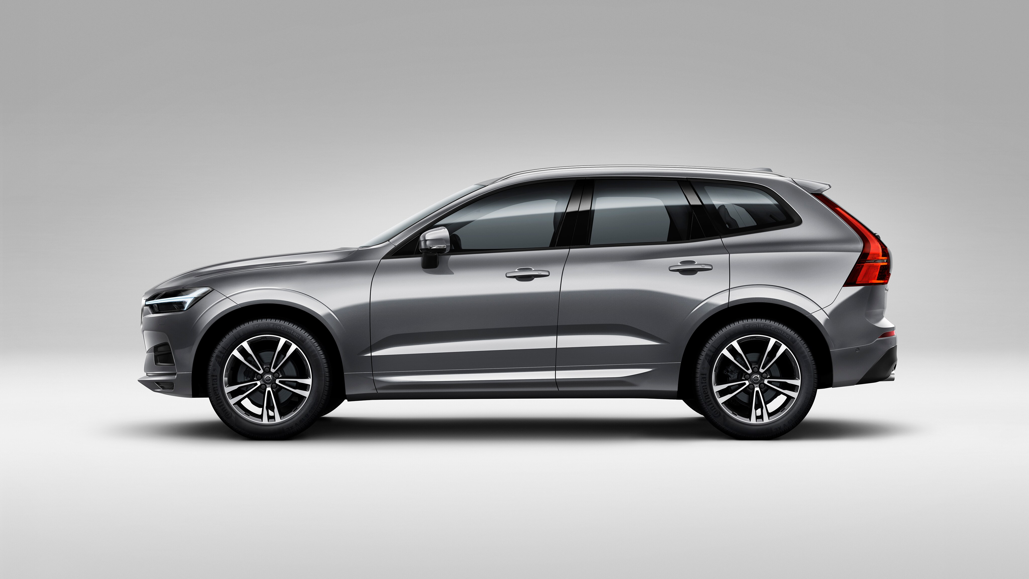A side-profile studio view of the Volvo XC60
