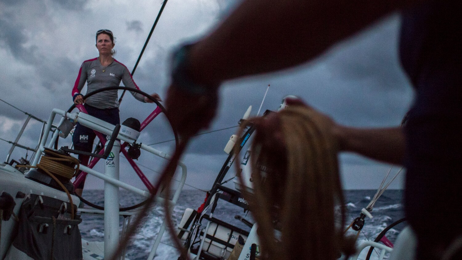 Sam Davies, skipper of Team SCA