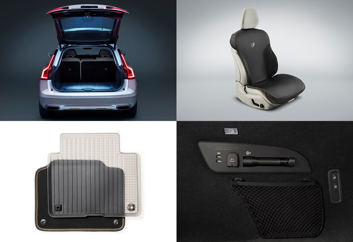 Volvo V90 Cross Country Volvo Ocean Race compartiment à bagages, Volvo V90 Cross Country Volvo Ocean Race housse de siège, Volvo V90 Cross Country Volvo Ocean Race tapis lavable et translucide, Volvo V90 Cross Country Volvo Ocean Race torche aluminium lavable