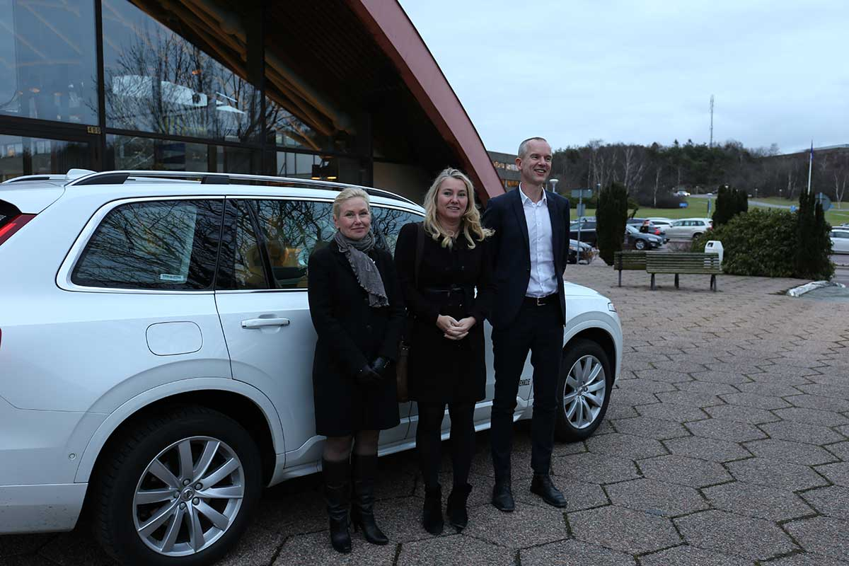 Ministers got a ride in a self-driving XC90