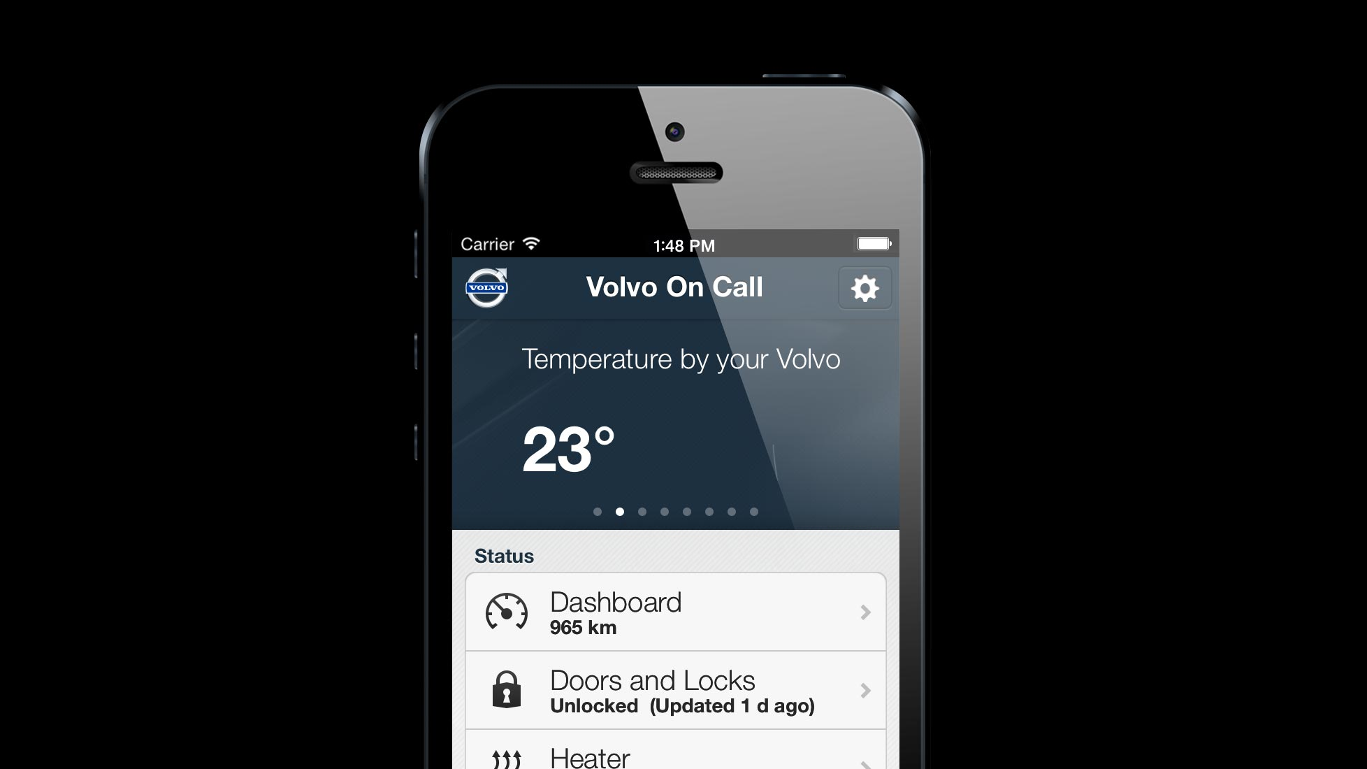 Sensus On Call screen