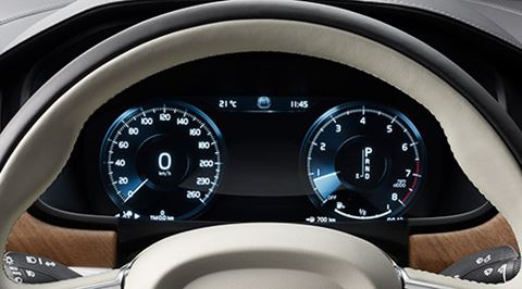 Volvo S90 - Adaptief digitaal dashboard