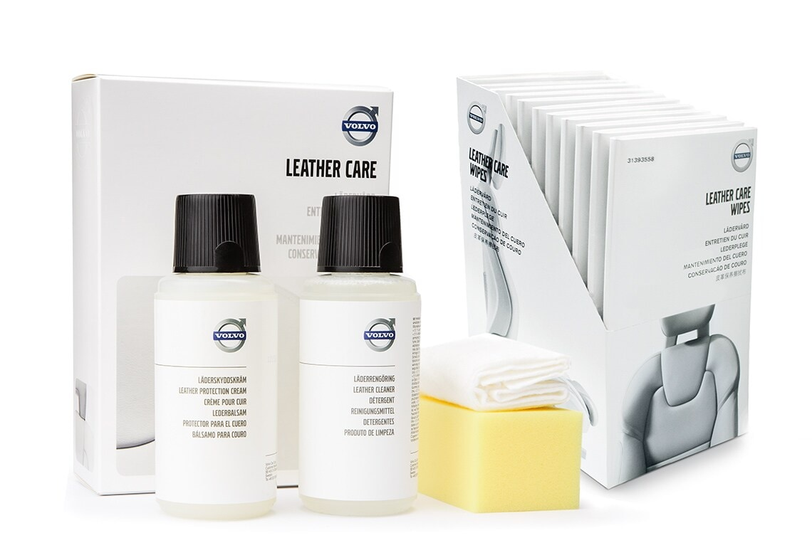 A leather cleaning kit from Volvo Cars Accessories