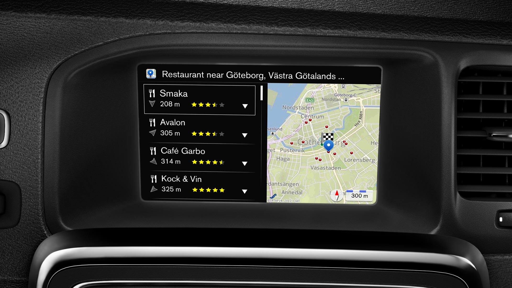 Sensus navigation screen