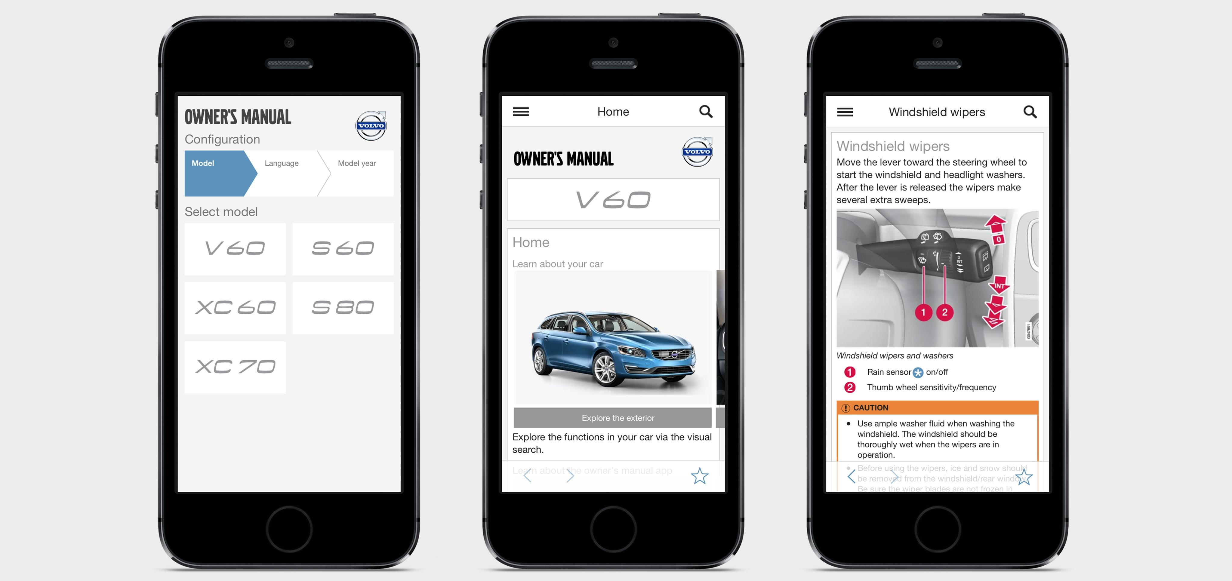 Volvo manuals on your mobile. Download the app to get user guides and  videos, right on your phone or tablet.