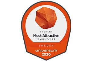 Universum 2020 employer award badge