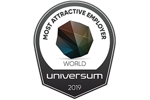 Universum World most attractive employer award badge